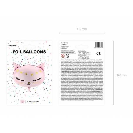 Chat ballon ballon, 48x36cm