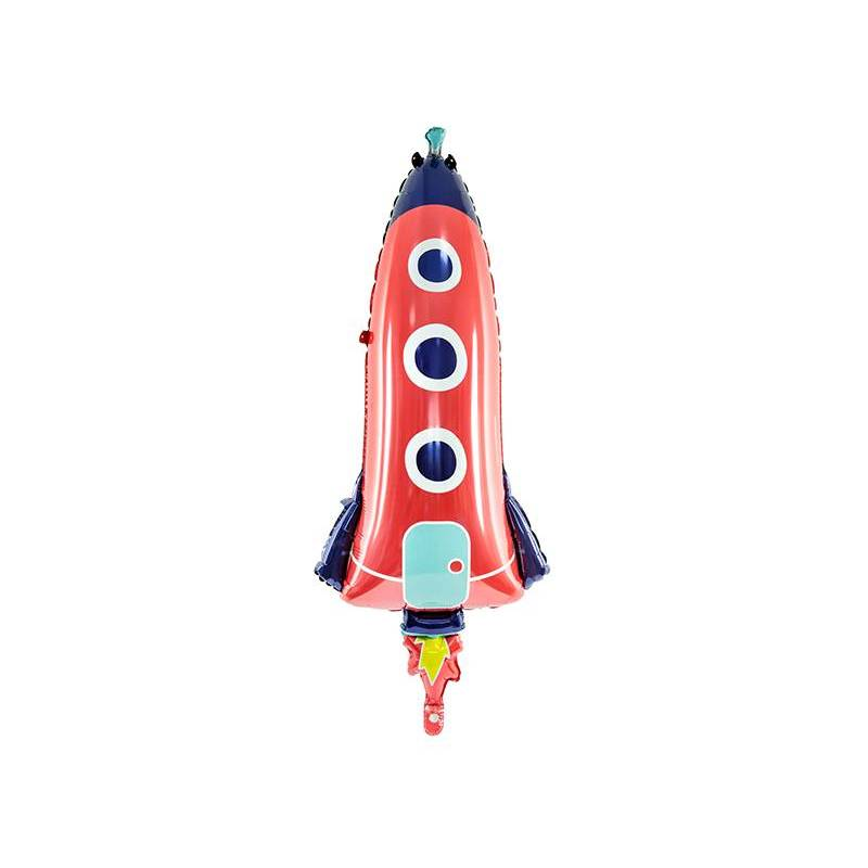 Ballon aluminium Rocket, 44x115cm, mix