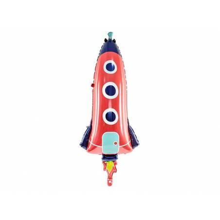 Ballon aluminium Rocket, 44x115cm, mix