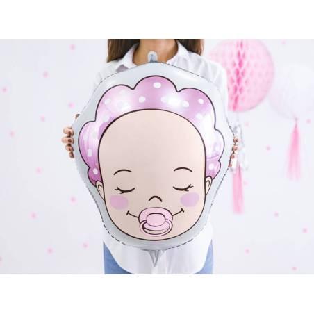 Ballon aluminium Baby - Fille, 40x45cm, mix
