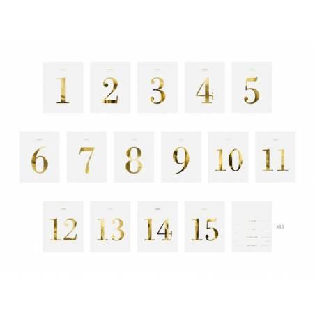 Numéros de table - jeu d'étiquettes 95x12cm