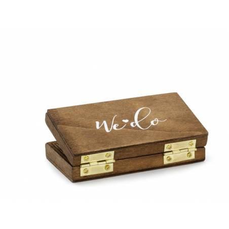 Boîte pour alliance en bois, 10x5,5cm
