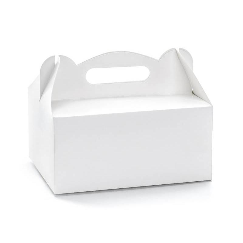 Boîtes à gâteaux de mariage décoratives blanches 19x14x9cm
