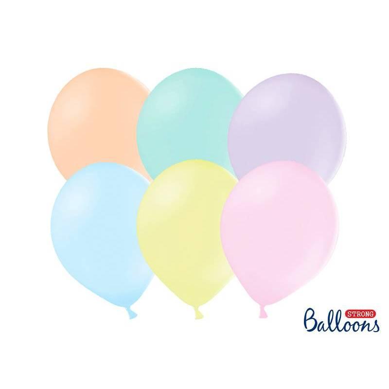 Ballons puissants 30 cm mélange pastel