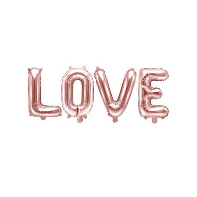 Foil Balloon Love, 140x35cm, or rose