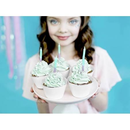 Bougies d'anniversaire ombre 6cm