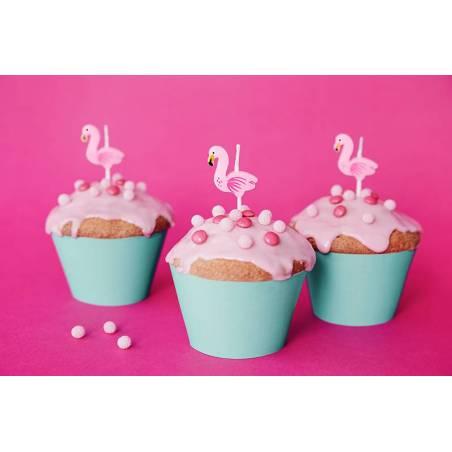 Bougies d'anniversaire Flamants roses 3cm
