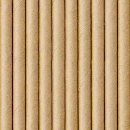 Pailles en papier kraft 195 cm