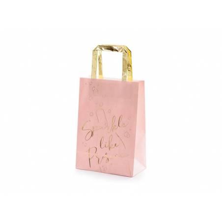 Sacs cadeaux Prosecco rose 18x26x10cm