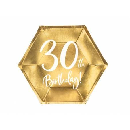 Assiettes 30e anniversaire or 20cm