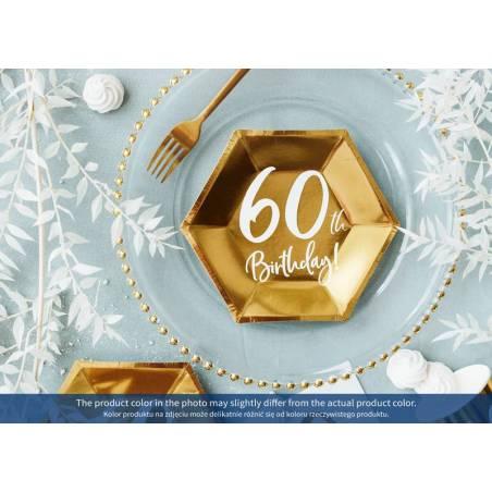 Assiettes 60e anniversaire or 20cm