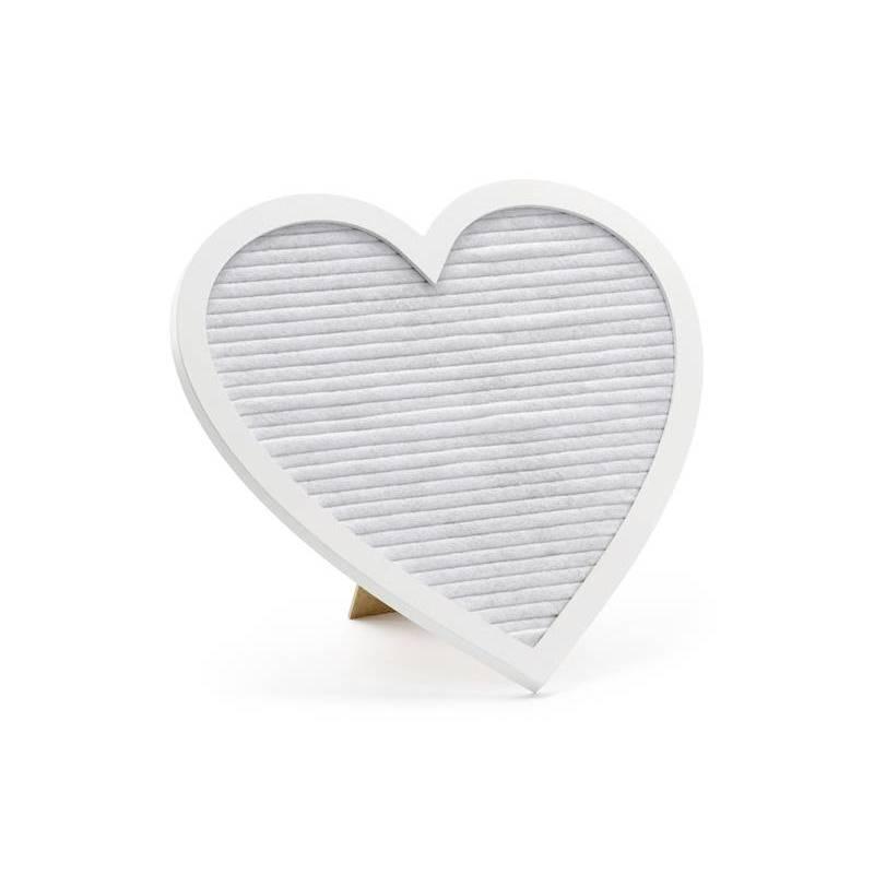 Tableau à lettres Coeur, mix, 31x29cm