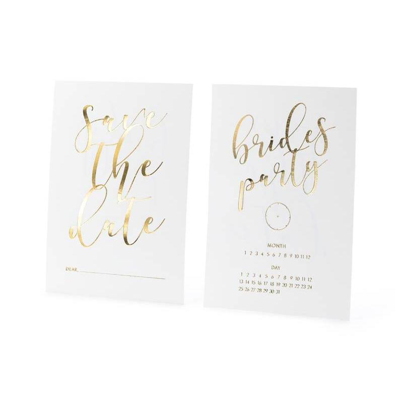 Invitations Save the date blanc