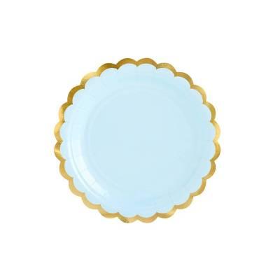 Assiettes bleu clair 18cm