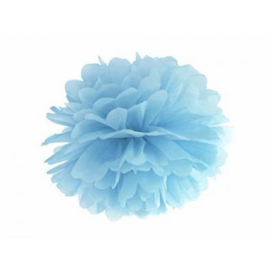Papier de soie Pompon bleu...