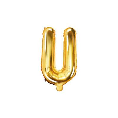 Ballon alu Lettre U 35cm or