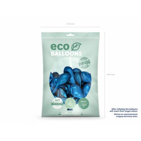 Ballons Eco 30cm bleu marine