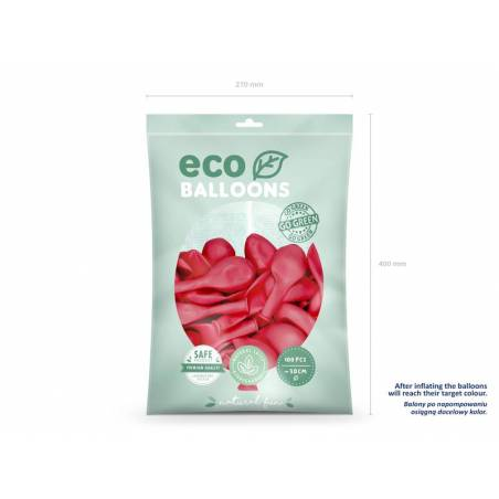 Ballons Eco 30cm rouge clair