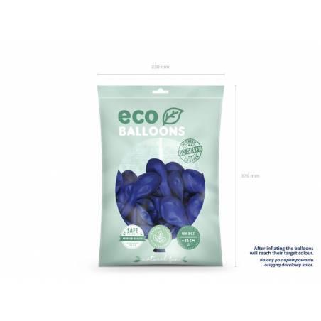 Ballons Eco 26cm bleu marine