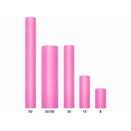 Tulle uni rigide rose foncé 03 x 50 m