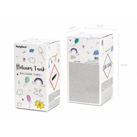 Réservoir d'hélium, menthe, 30 ballons