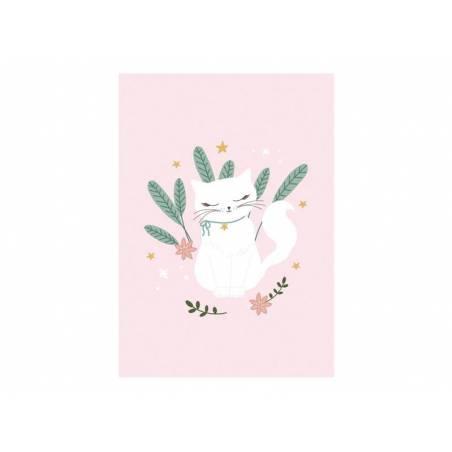 Bloc de dessin A4 Chat avec 50 feuilles blanches