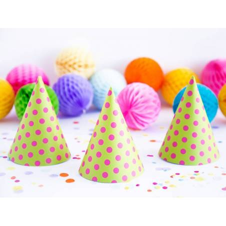 Chapeaux Party Dots pomme verte 16cm