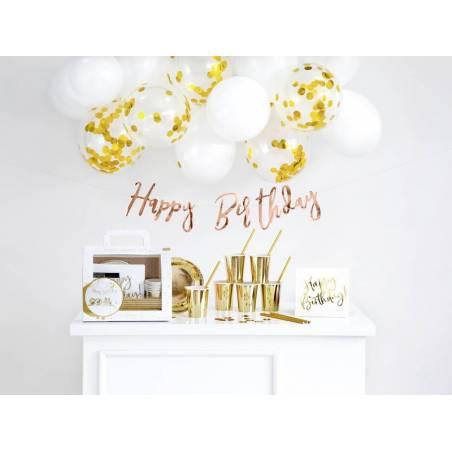 Ensemble de décorations de fête - Anniversaire or