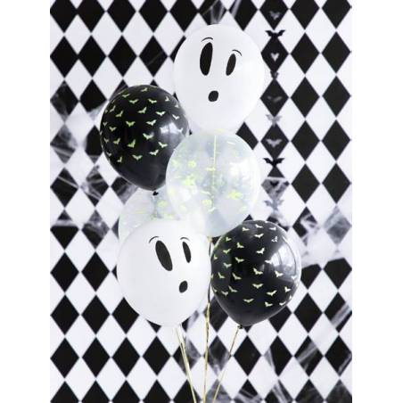 Ballons Blacklight 27cm BOO ! mix