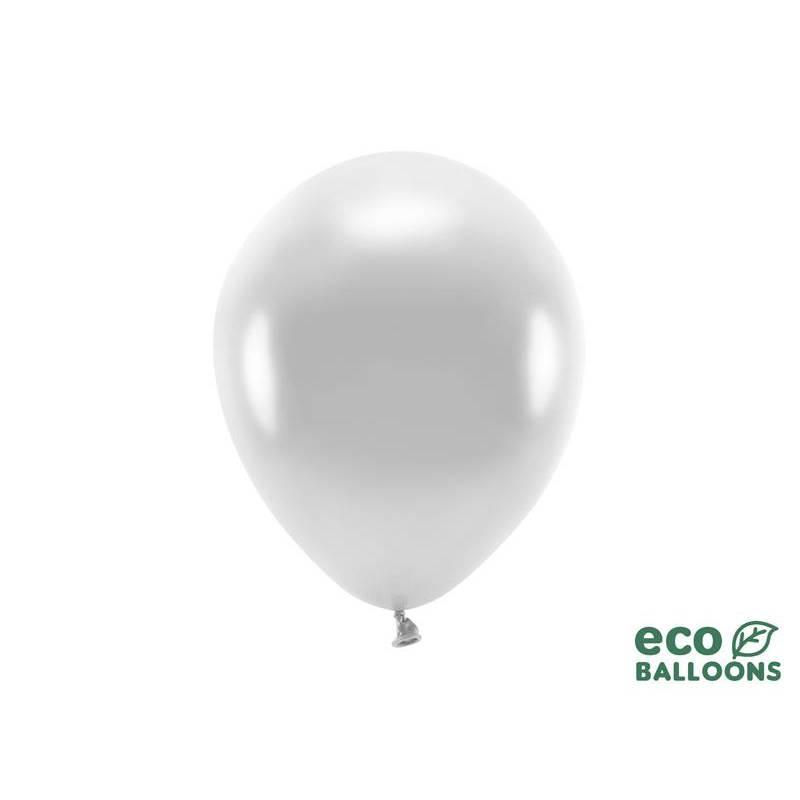 Ballons Eco 26cm métallique argent