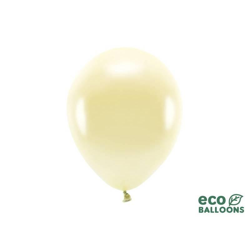 Ballons Eco 26cm métalliques paille