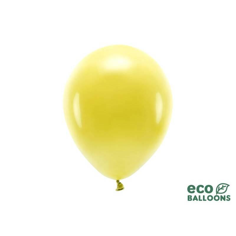 Ballons Eco 26cm pastel jaune foncé