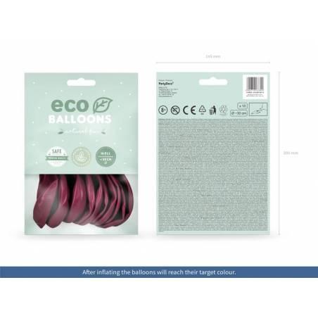 Ballons Eco 26cm pastel rouge foncé