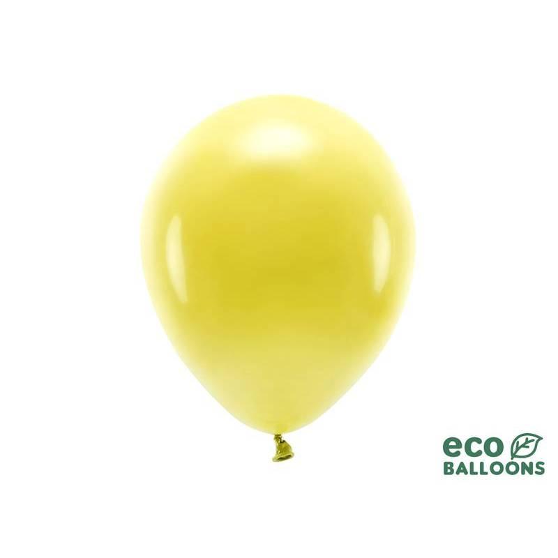 Ballons Eco 30cm jaune foncé pastel