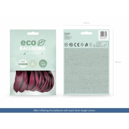 Ballons Eco 30cm pastel rouge foncé