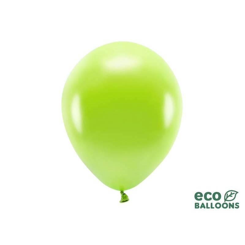 Ballons Eco 30cm pomme verte métallique