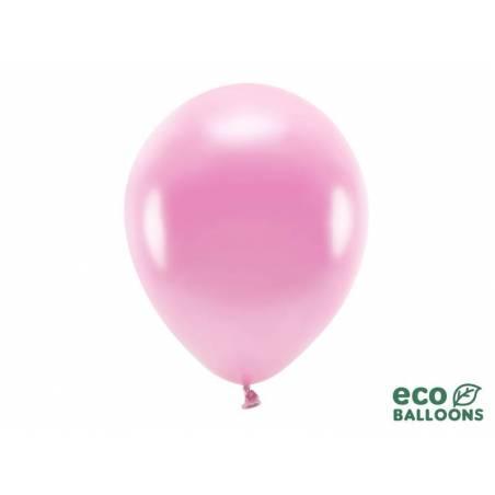 Ballons Eco 30cm rose métallique