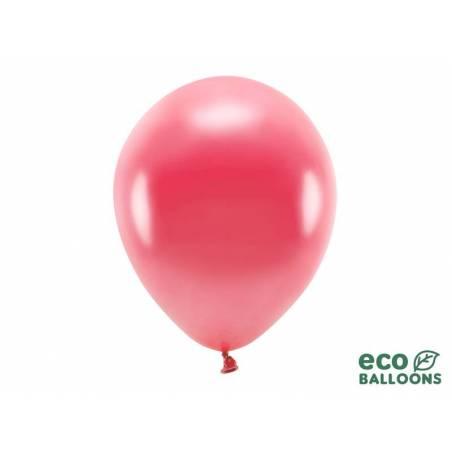 Ballons Eco 30cm rouge clair métallisé