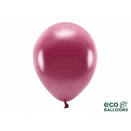 Ballons Eco 30cm rouge foncé métallisé