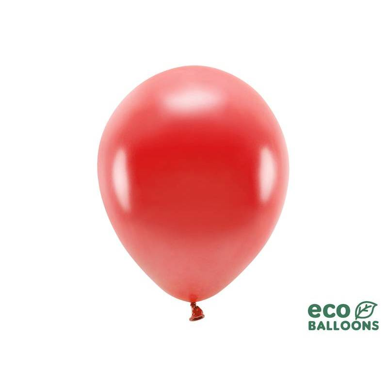 Ballons Eco 30cm rouge métallique