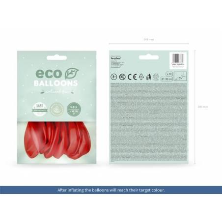 Ballons Eco 30cm rouge pastel