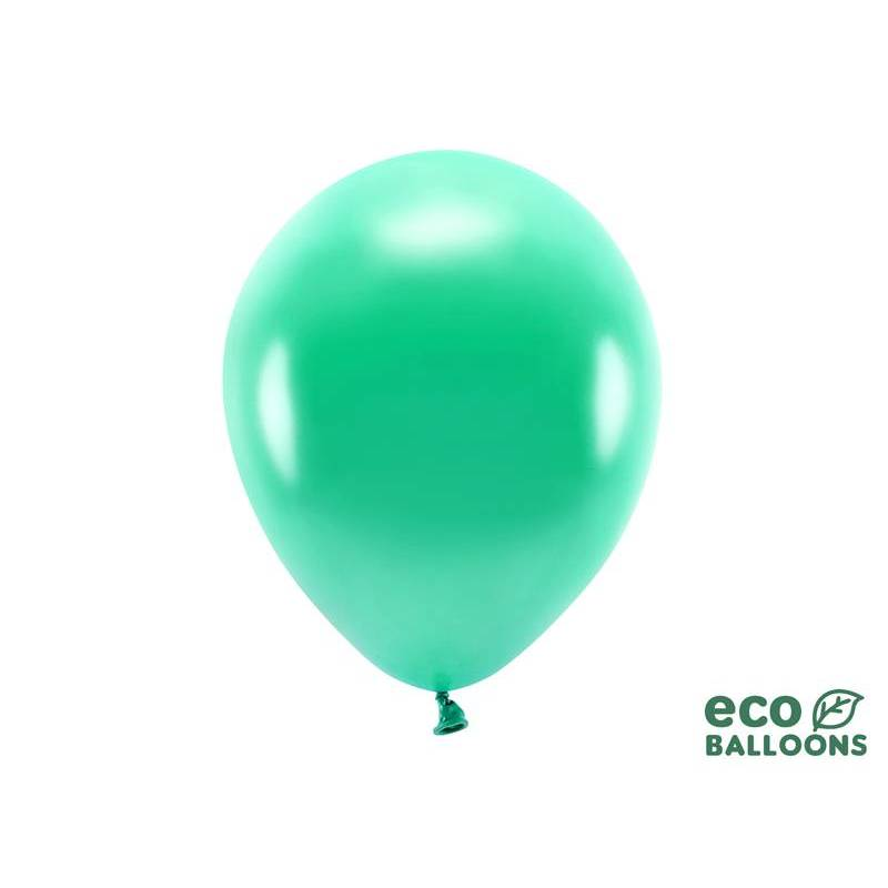 Ballons Eco 30cm vert métallique