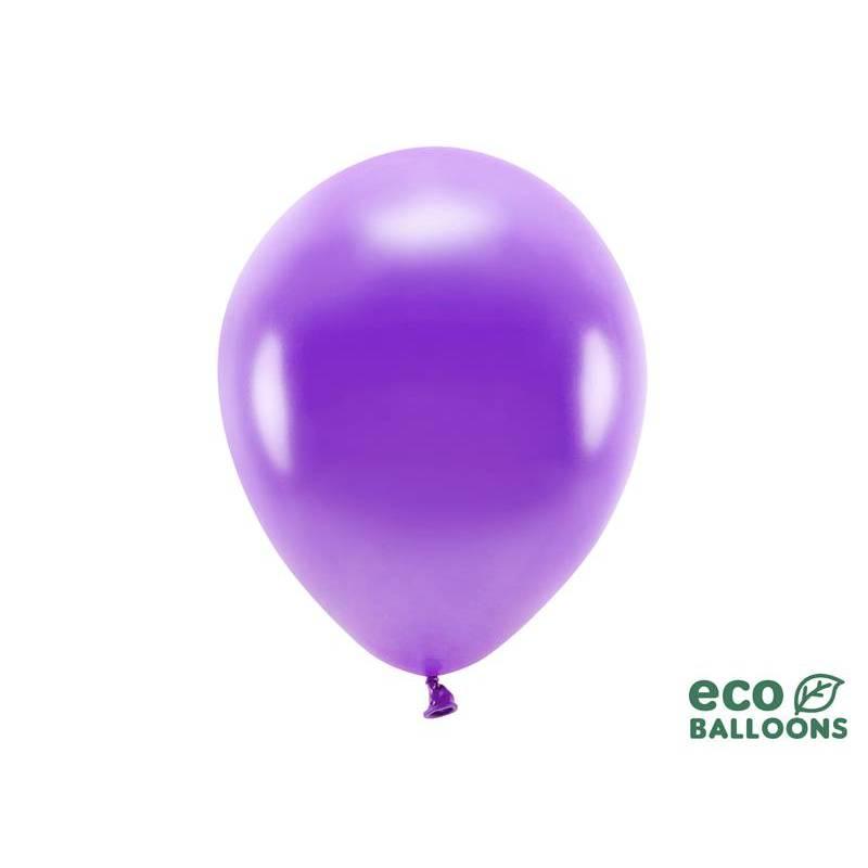 Ballons Eco 30cm violet métallique