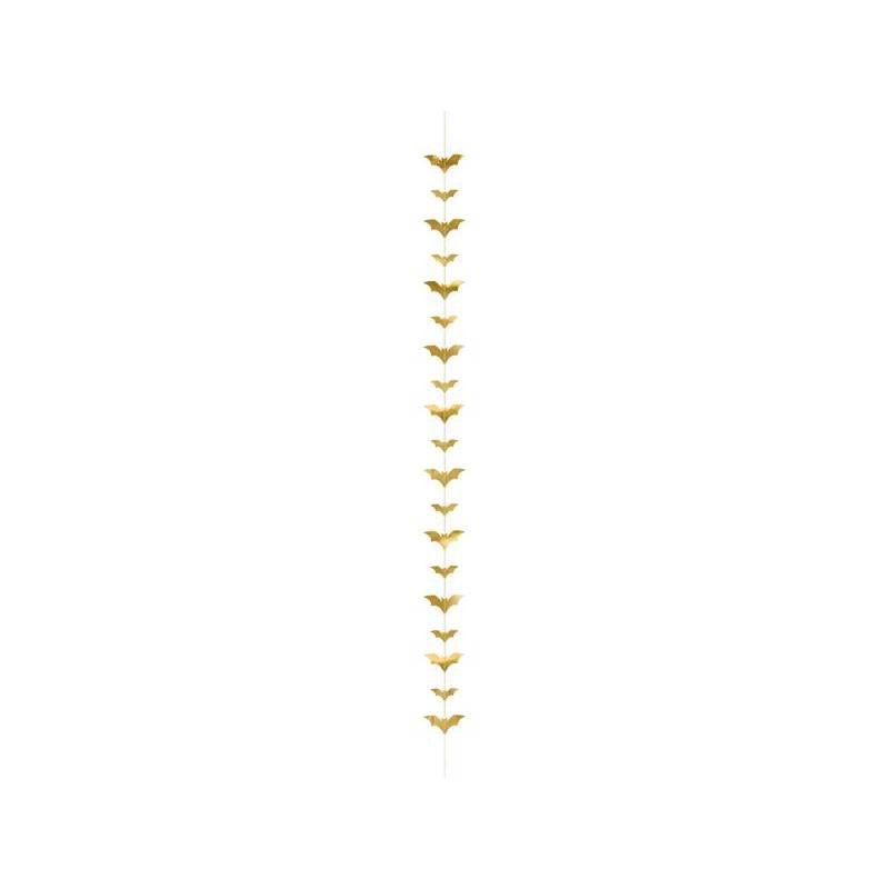 Guirlande de chauves-souris, or, 1,5 m