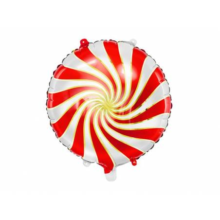 Ballon en aluminium Candy, 35cm, rouge