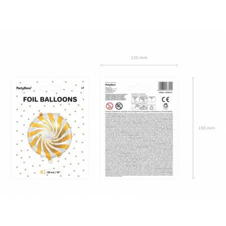 Ballon en aluminium Candy, 35cm, or