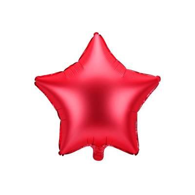 Ballon aluminium Star, 48cm, rouge