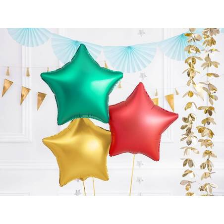 Ballon aluminium Star, 48cm, vert
