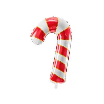 Ballon aluminium Canne de bonbon, 50x82cm, rouge