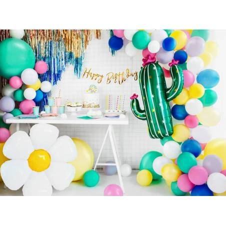 Ballon aluminium Daisy, 75x71cm, mix
